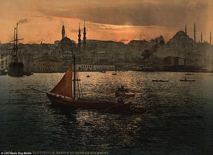 Последние дни Османской империи: удивительные цветные фотографии Константинополя конца 19 века