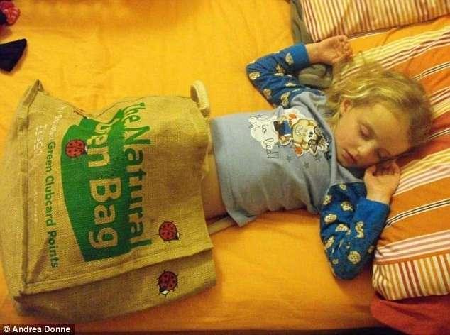 Самые странные места, в которых засыпают дети