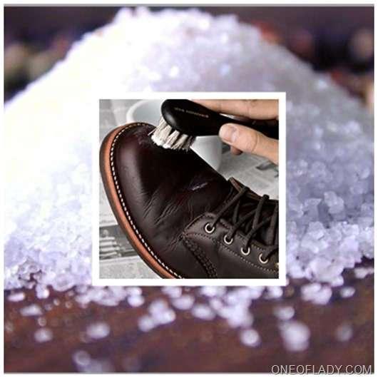 Как вывести соль из обуви