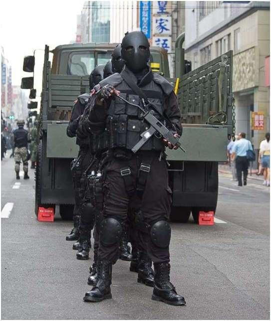 Баллистическая маска спецназа Тайваня
