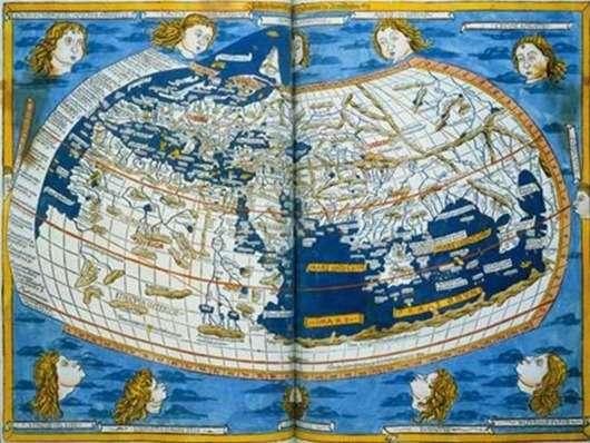 Закодированная карта Птолемея