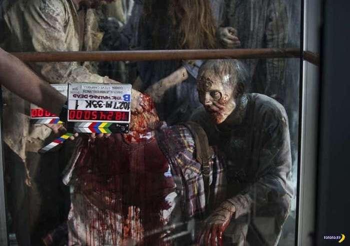 Классные фото со съемок -Ходячих мертвецов-