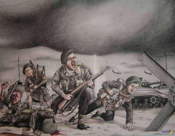 -Войнушка- на рисунках Майкла Аккермана
