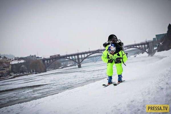 Испытание самодельного реактивного ранца словенским спортсменом (12 фото + видео)