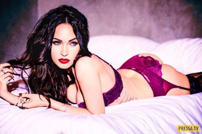 Сексуальная Меган Фокс в кружевном белье восхитила поклонников (6 фото)