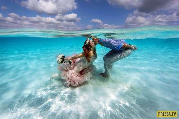 Необычная свадьба в Карибском море (19 фото)