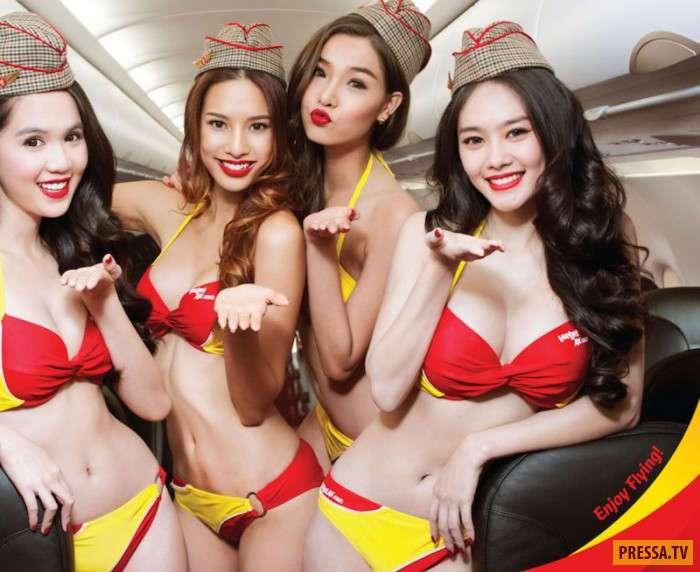Бикини в воздухе, или Раздетые стюардессы авиакомпании VietJet (18 фото)