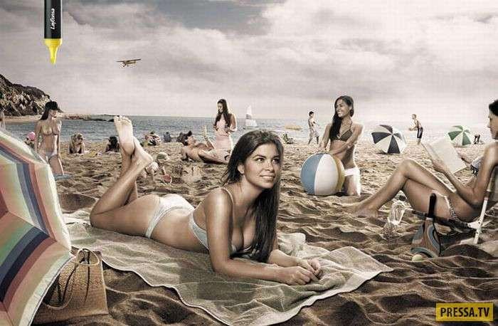 Креативная реклама с использованием эротики и секса (40 фото)
