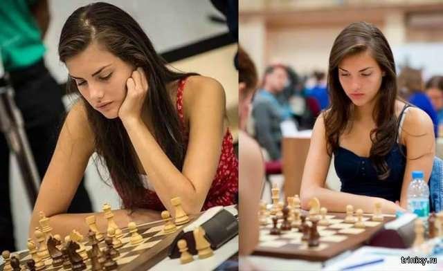 Александра Ботез - самая привлекательная шахматистка в мире (12 фото)