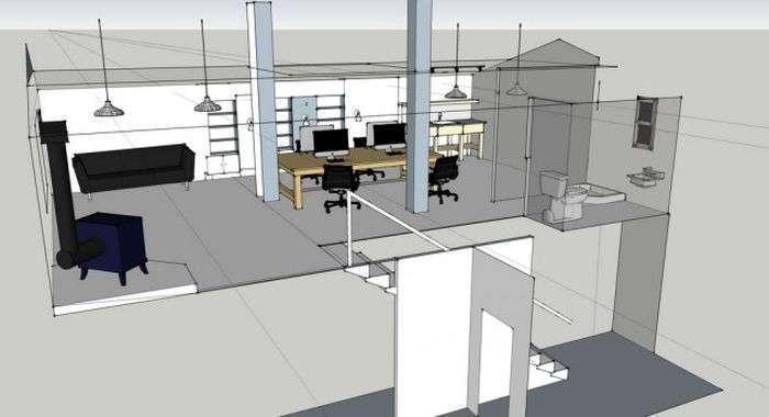Офис-студия в старом сарае (41 фото)
