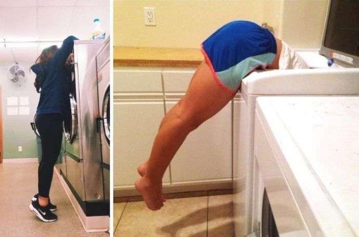 Трудности, с которыми сталкиваются невысокие девушки (16 фото)