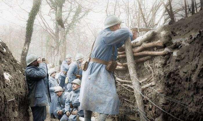 Окрашенные фотографии Первой мировой войны (23 фото)