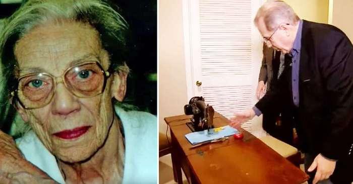 """Перед смертью она попросила племянника """"заглянуть под швейную машинку"""". Ничего себе наследство!"""