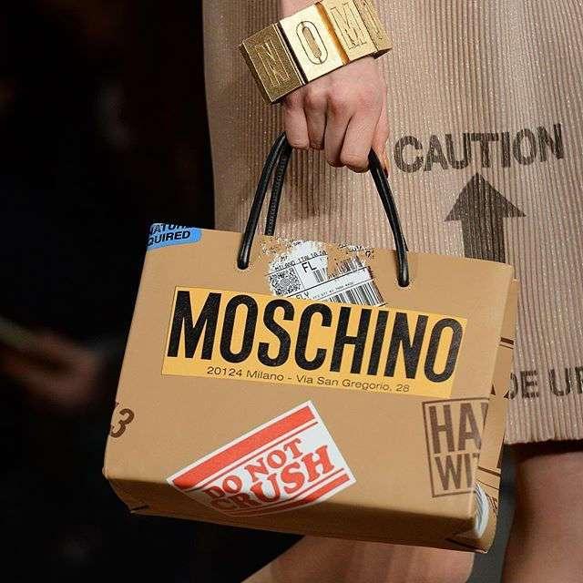 Новая коллекция Moschino под названием -Мусорный шик-