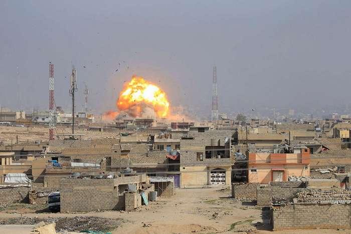 Ужасающие кадры войны в иракском городе