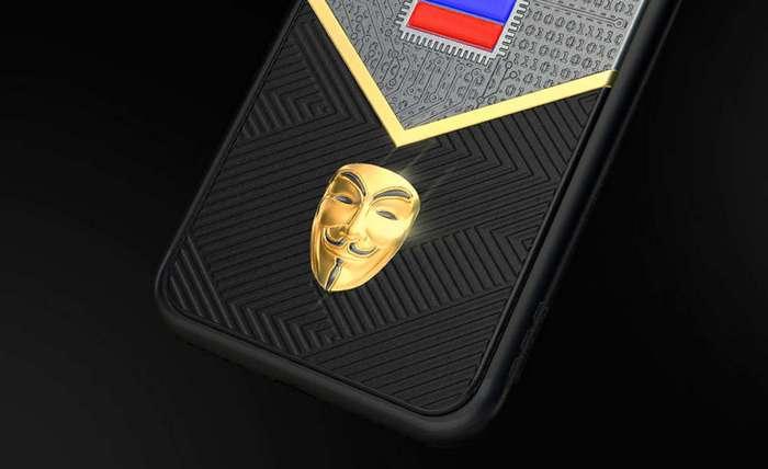 Мобильный с золотым ликом Путина