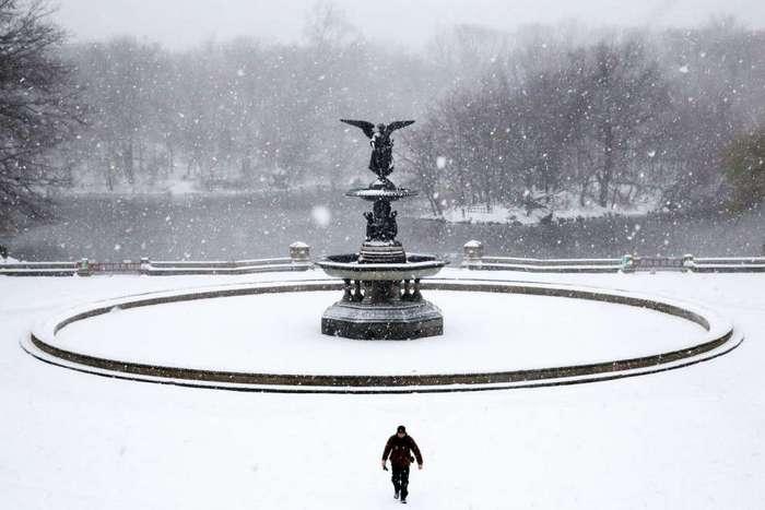 Снежный шторм -Стелла- на востоке США