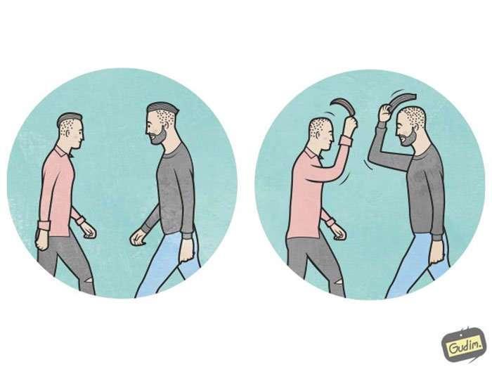 Сарказм в иллюстрациях Антона Гудима