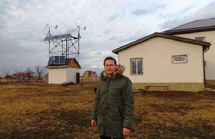 Житель Кубани отказался от электросетей и оборудовал полностью автономный дом, сэкономив кучу денег