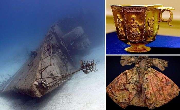 10 редких артефактов, которые были найдены на затонувших кораблях
