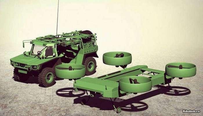 В Украине представили концепт летающей бронемашины E-LSFV