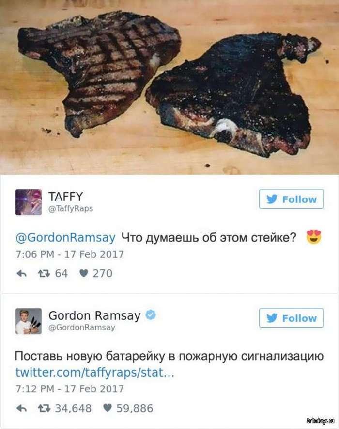 Отзывы шефа Гордона Рамзи на фото блюд кулинаров-любителей (15 фото)