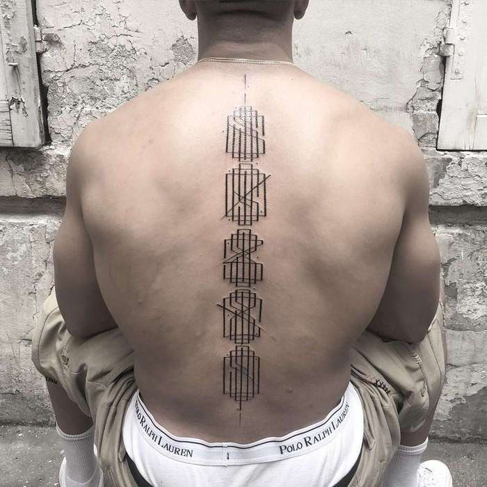 Отличные минималистские тату от французского художника