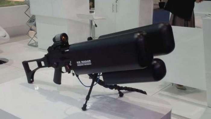 Белорусская футуристичная винтовка для борьбы с дронами