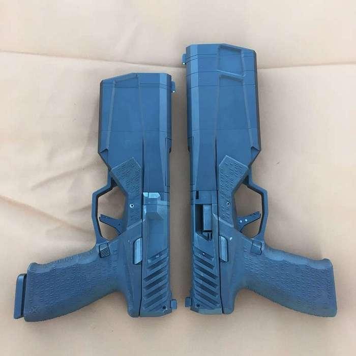 Пистолет со встроенным глушителем