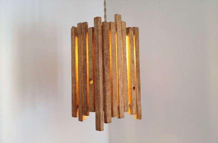 Уникальные деревянные светильники: хорошие примеры для интерьера