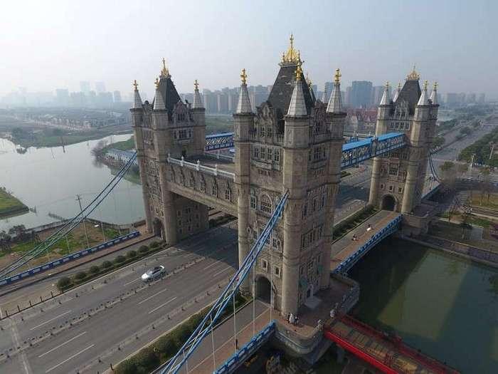 17 копий известных мест, построенных в Китае