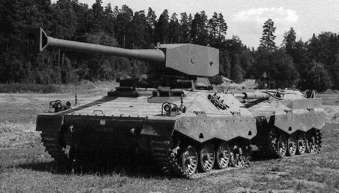 Экспериментальный проект легкого танка UDES XX 20 (Швеция)