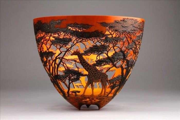Филигранные вазы из дерева: очарование карвинга