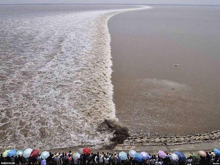 Уникальная приливная волна