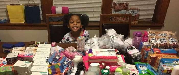 Шестилетняя девочка накормила бездомных на деньги, предназначенные для её дня рождения