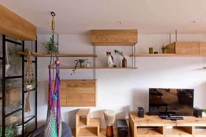 Эта семья превратила свою квартиру в рай для любимой кошки