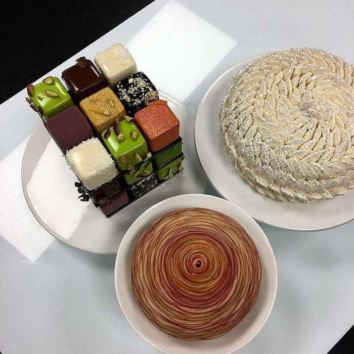 Потрясающие тортики в виде кубика Рубика, изготовленные одним из лучших кондитеров в Европе