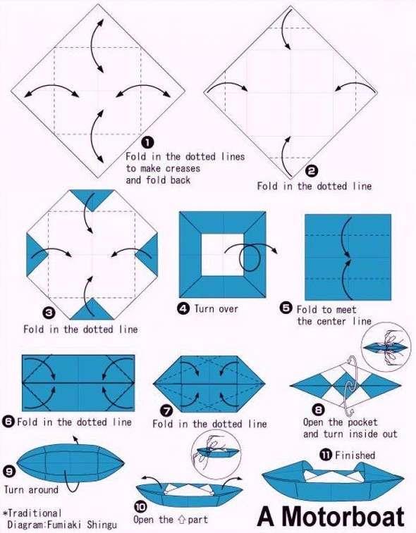 А вы запускали бумажные кораблики? 8 схем, которые вернут вас в детство
