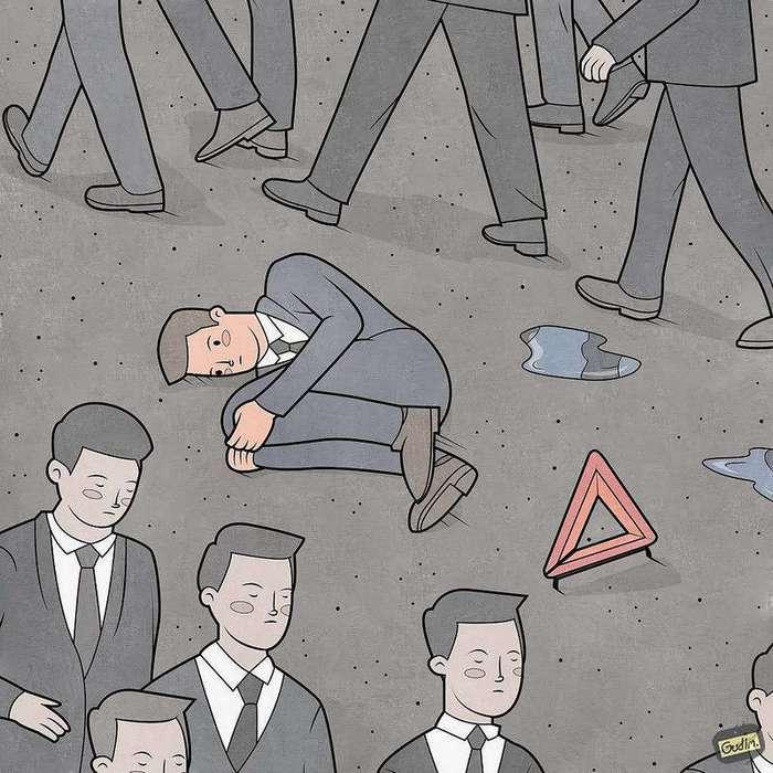 Ироничные комиксы Антона Гудима
