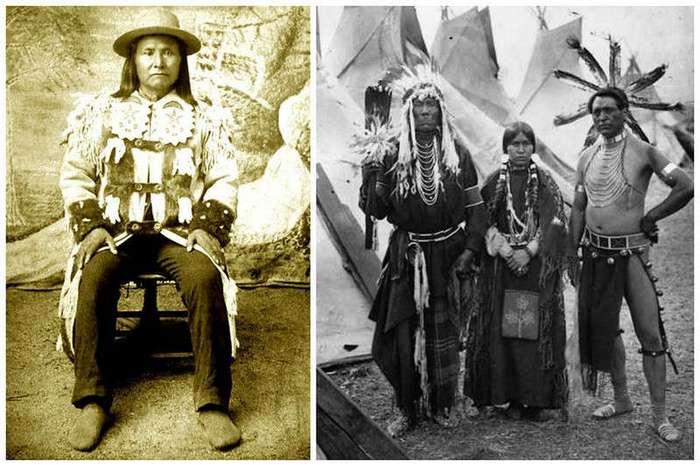 Интересные старинные фото - лица американских индейцев