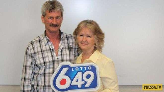 Везунчики! Канадские супруги выиграли в лотерею и стали миллионерами (фото)