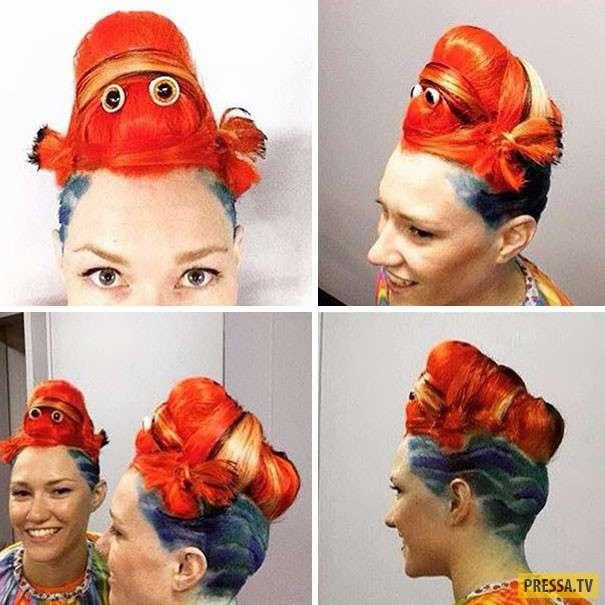 Яркие скульптуры из волос в австралийском стиле (11 фото)