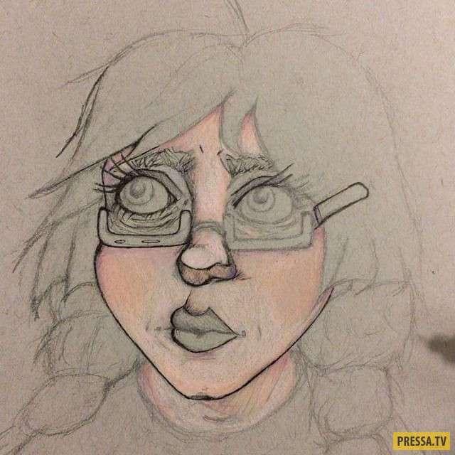 Художница, которая рисует свои галлюцинации (13 фото)