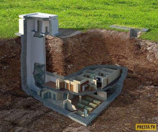 Двухуровневый ядерный бункер, способный выдержать взрыв в 20 килотонн (10 фото)