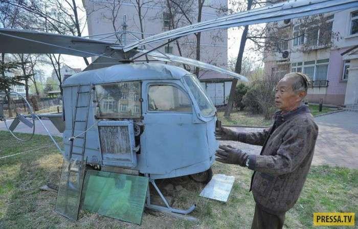 Китайский пенсионер построил вертолет (5 фото)