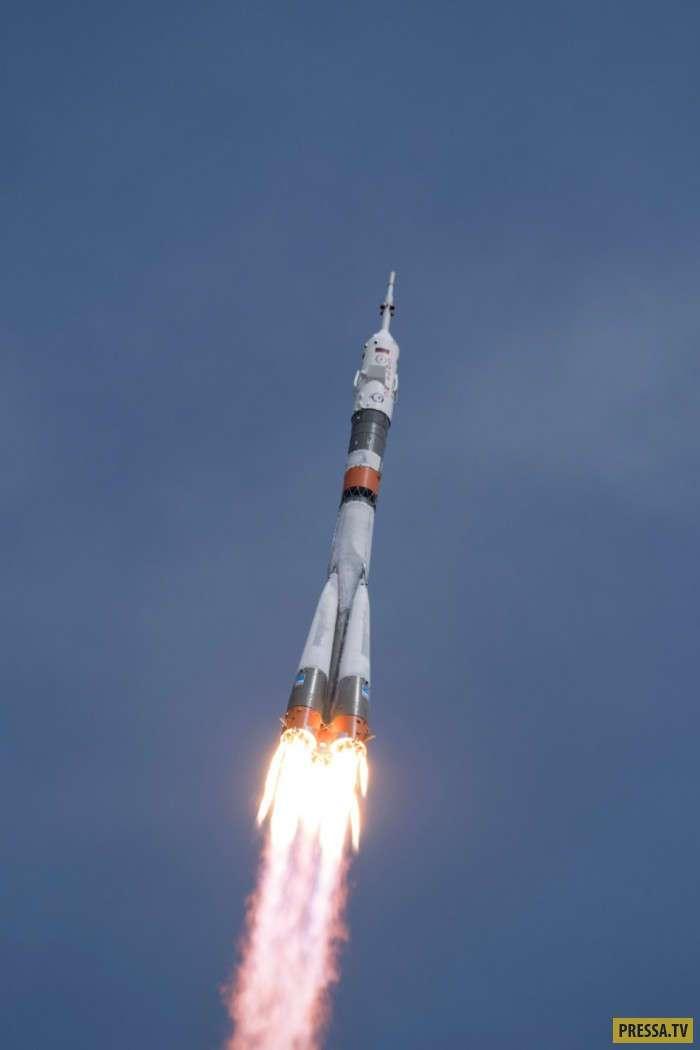 Красивые снимки со старта ракеты-носителя -Союз-ФГ- (20 фото)