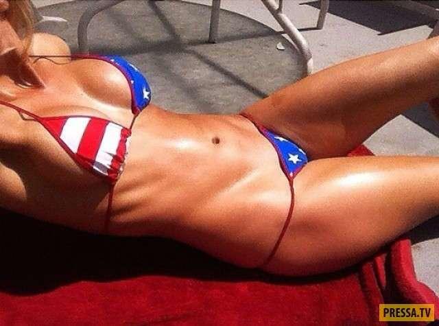 Симпатичные патриотки Америки (35 фото)
