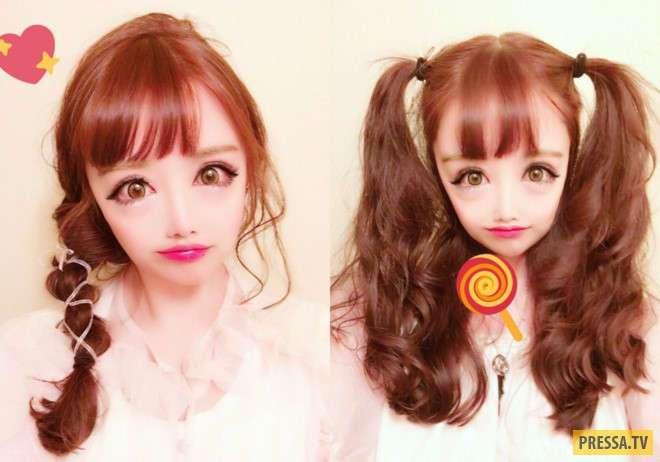 Девушка выглядит как персонаж японских комиксов. И это не фотошоп! (9 фото)