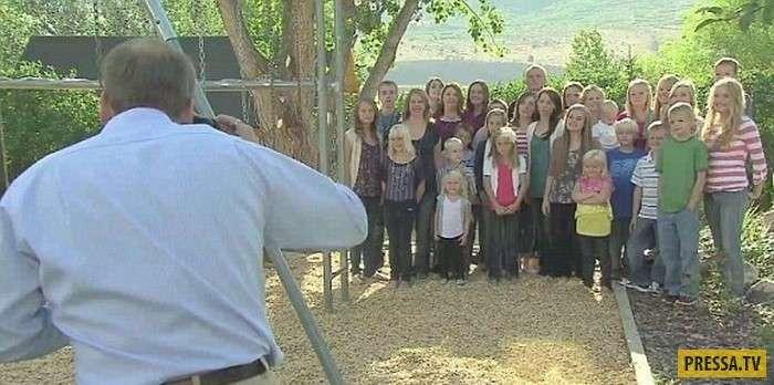 Ещё один гарем: У этого американца 5 жён и 24 ребёнка (6 фото)