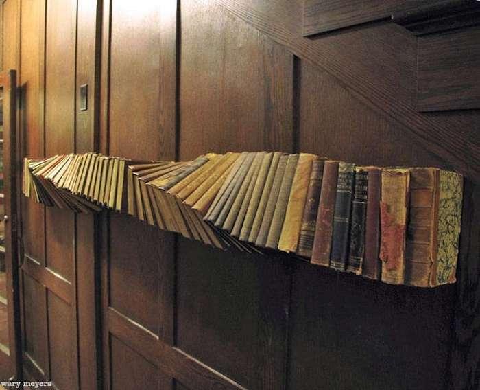 Дизайнерские книжные шкафы и полки, которые заставят вас по-другому взглянуть на хранение книг